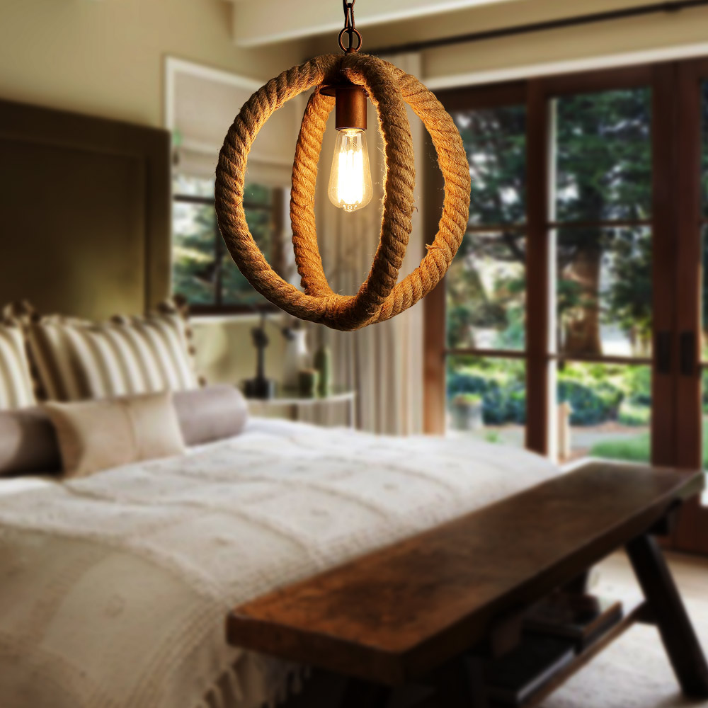 country dining room light fixtures. nordic american country retro restaurant cafe lighting fixtures hemp rope creative personality artistic single head pendant lamp-in lights from dining room light