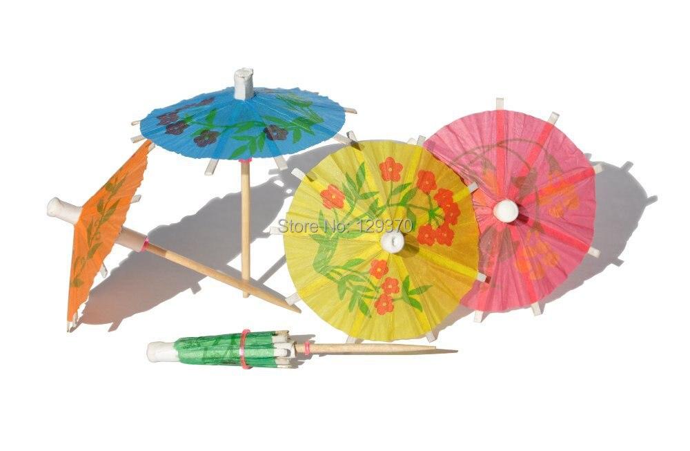 Freies Verschiffen 144 teile/paket Regenschirm Picks Cocktail Sonnenschirm Trinken Picks Party Picks Kunst Zahnstocher Party Cupcake Obst Dekoration
