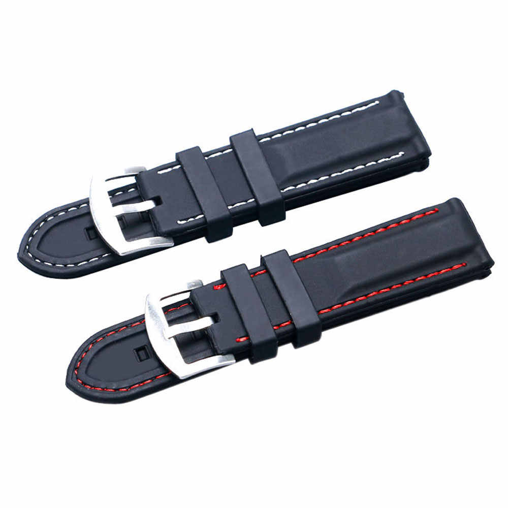 22/24mm Silicone Men Watchbands Wristwatch Strap Watch Band Watches Bracelet Accessories