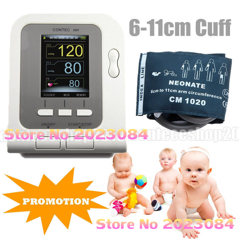 Infant Neonate Infant Digital Blood Pressure Monitor CONTEC08A SPO2 PR PC Software USA Neonate бра newport 31202 a
