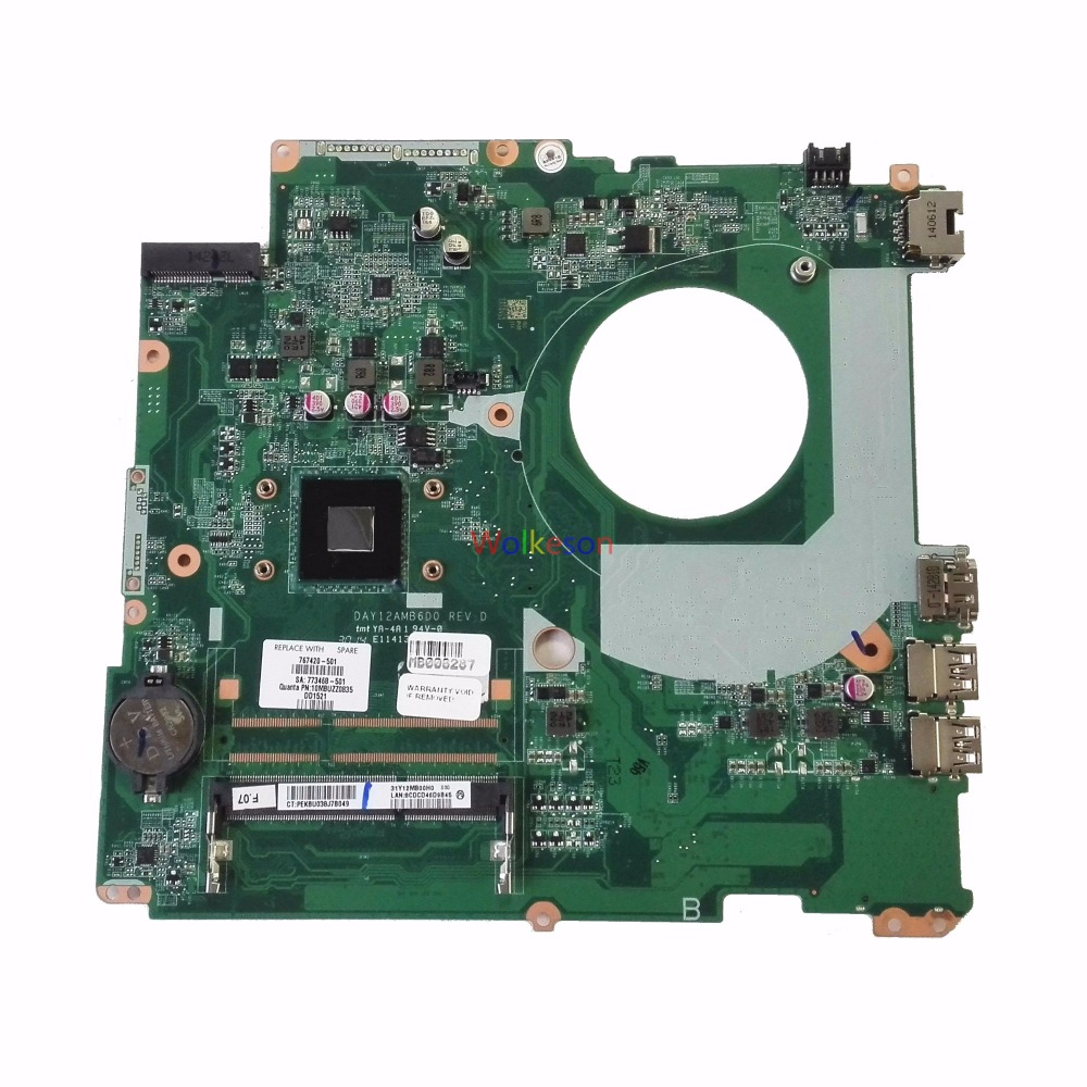 SHELI FOR HP 17-F Laptop Motherboard W/ N2830 CPU 767420-501 DAY12AMB6D0 DDR3 Test Oke
