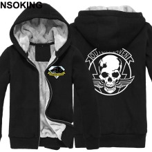 Winter Jackets and Coat MGS 5 Metal Gear Solid hoodie Anime Diamond Dogs Thicken Warm Men