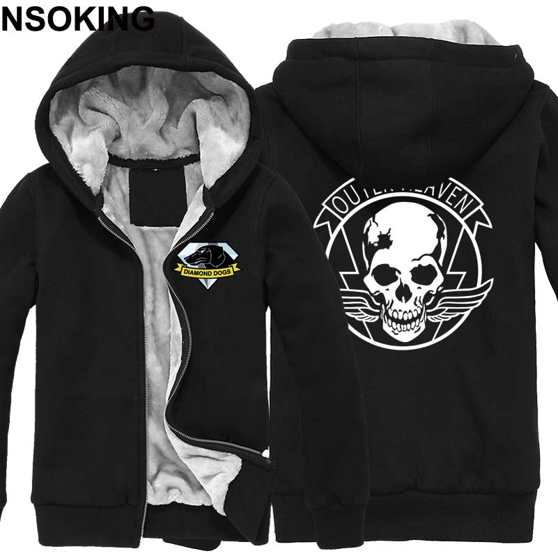 Winter font b Jackets b font and Coat MGS 5 Metal Gear Solid hoodie Anime Diamond