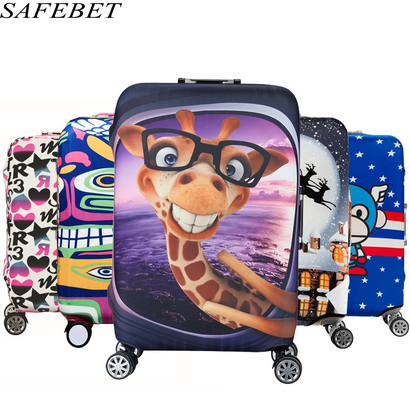 SAFEBET Protective-Cover Suitcase Trolley Elastic-Luggage Cartoon Brand for 19-32inch