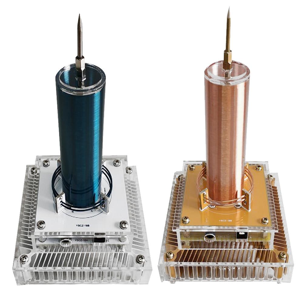 Multi-fonction Tesla bobine Module sortie de musique Plasma haut-parleur Radio sans fil Transmission son solide Science acrylique boîtier 220 V