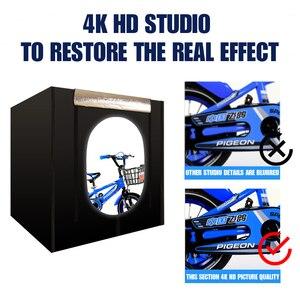 Image 2 - CY boîte à lumière + gradateur, boîte à photographie Portable, Soft box avec Studio de Photo, 120*100 CM