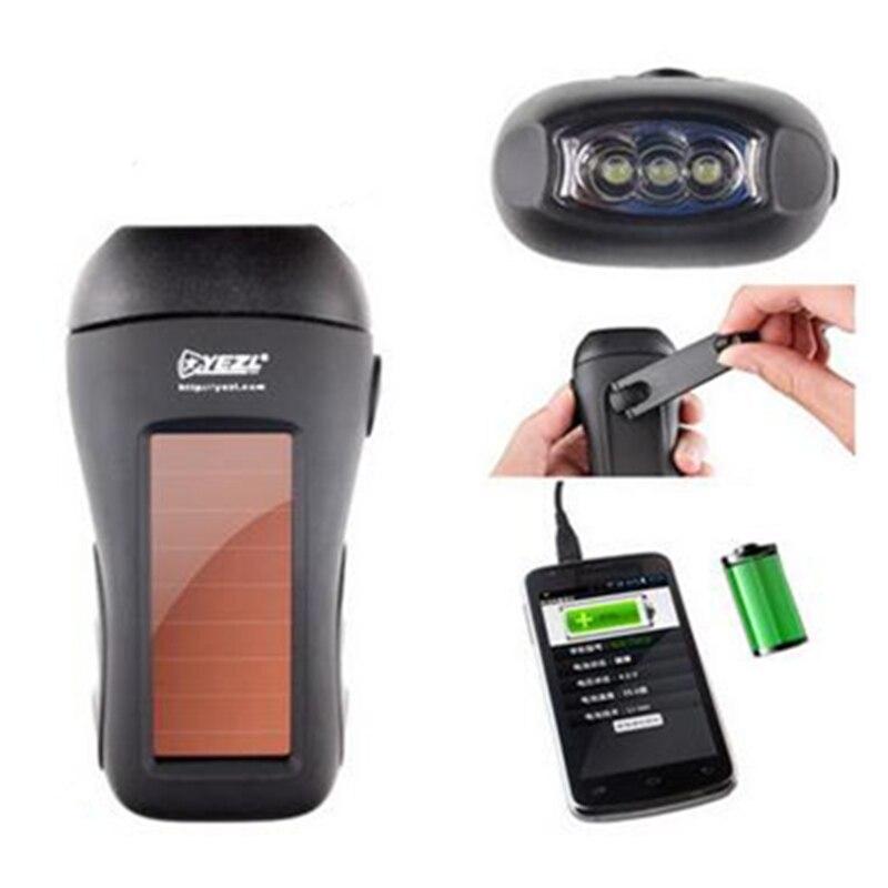 цена на Solar flashlight,Dynamo flashlight,outdoor multi-function emergency lights,Solar charge Camping lamp,USB mobile phone charger
