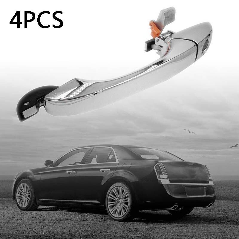 4Pcs Outer Door Handle Chrome Set For Chrysler 300 C 05-10 Dodge Magnum 05-08