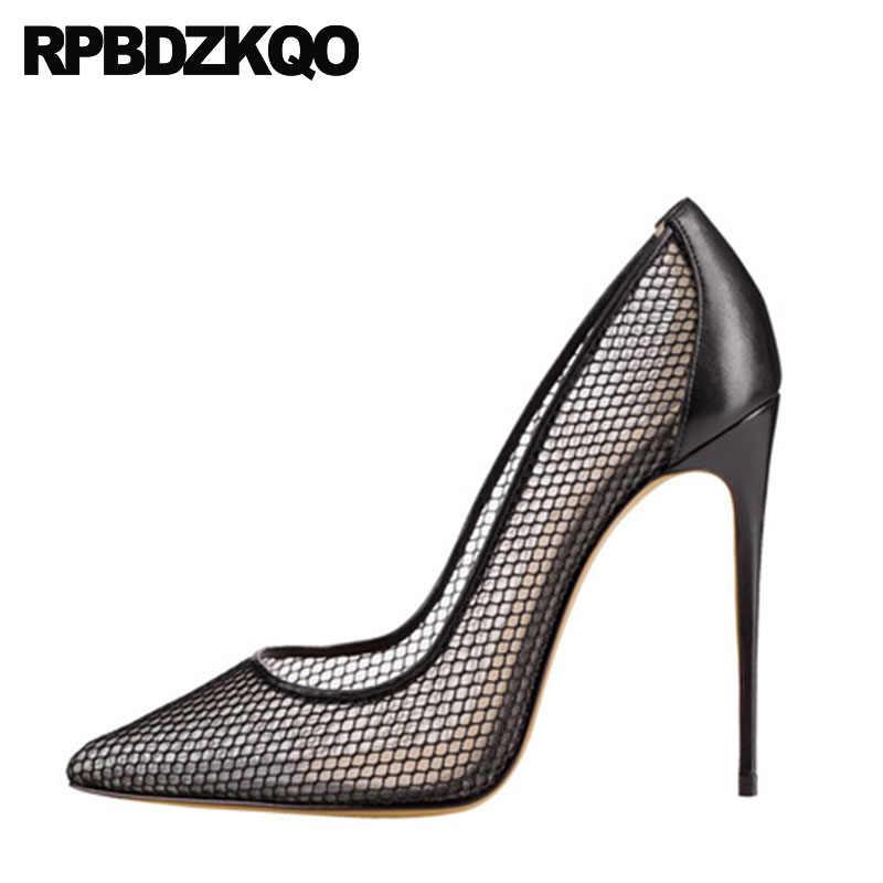 Sexy High Heels 12 44 Mesh Plus Size 13