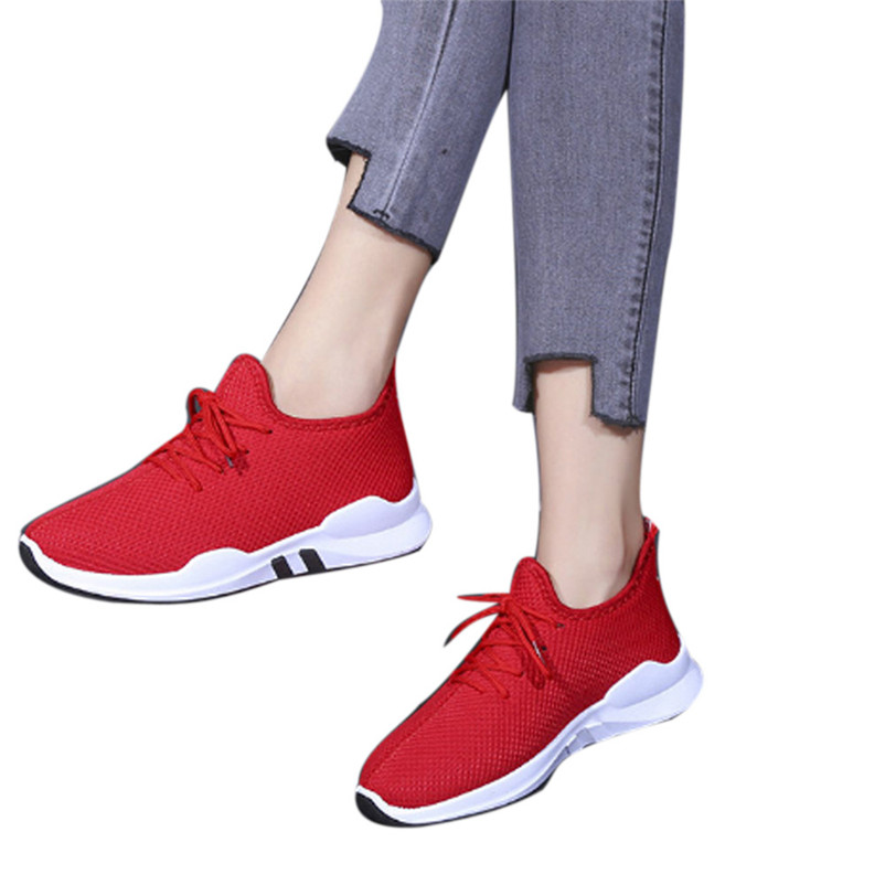 Women Platform Breathable Comfy Sneakers 2018 Fashion Women Flat Shoes Spring Autumn Lace Up Casual Female Vulcanize Shoes #40A beffery spring summer genuine leather casual sneakers women flat breathable shoes fashion lace up shoes women platform shoes