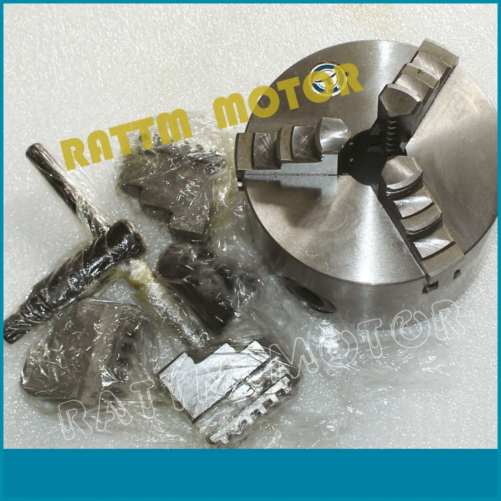 K11-100mm 3 jaw chuck Manual chuck Three jaw self-centering chuck  Machine tool Lathe chuck 3 3 jaw lathe chuck k11 80 k11 80 80mm manual chuck self centering lathe parts diy metal lathe lathe accessories