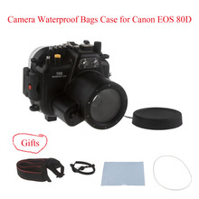 Meikon 40M/130ft Underwater Camera Housing Case for Canon EOS 80D,Camera Waterproof Bags Case for Canon EOS 80D Camera meikon 40m wp dc44 waterproof underwater housing case 40m 130ft for canon g1x camera 18 as wp dc44