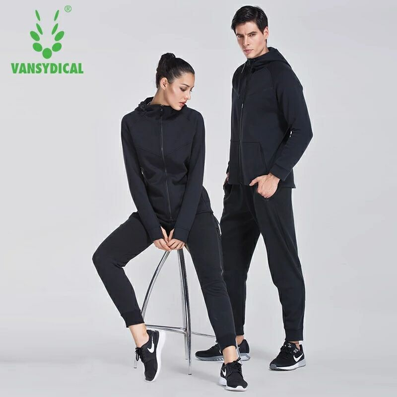 2018 Winter hooded Sport Suits Men/Women Comfortable Outdoor Running Sets Jogging Suit Men Women Fitness Gym Couples ...