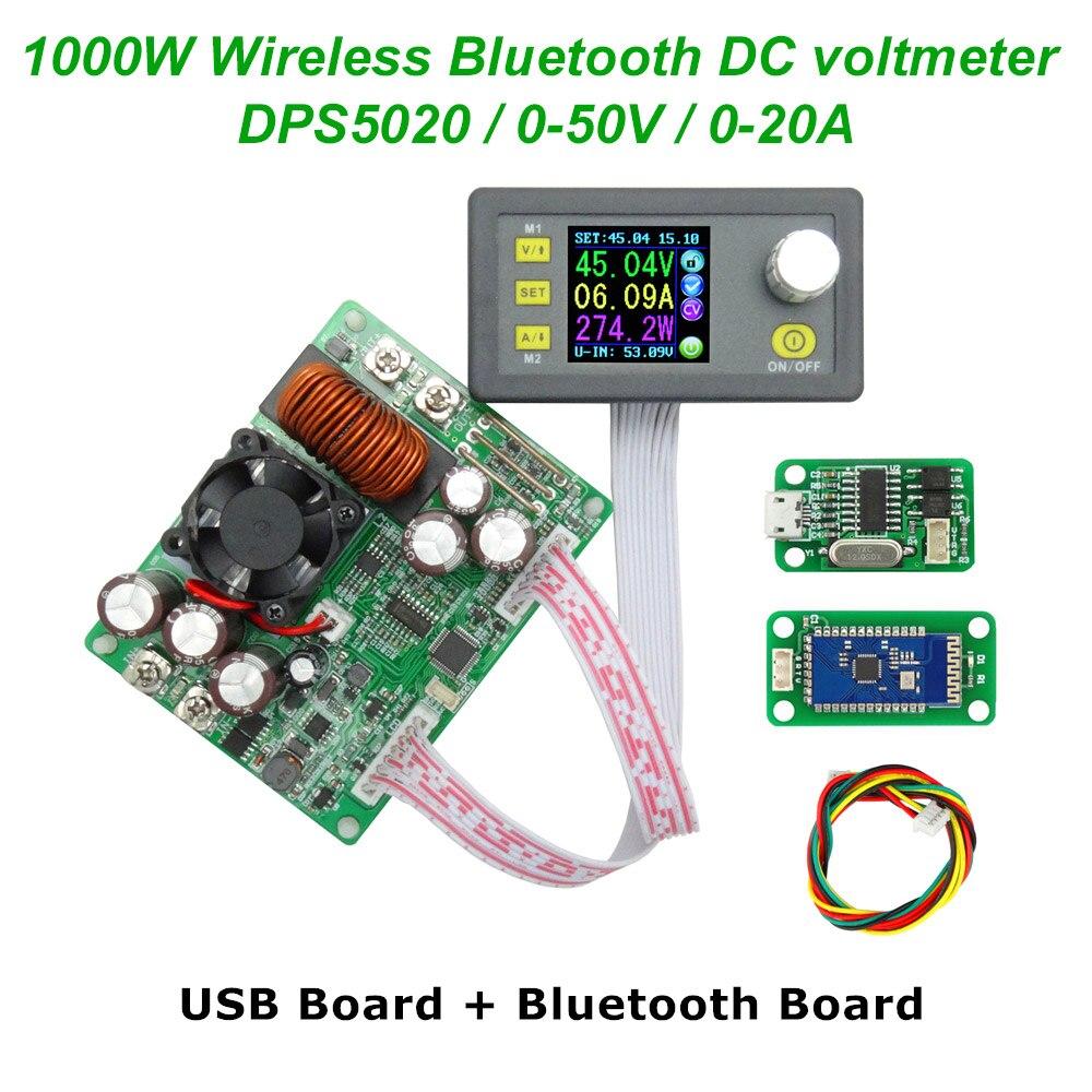 DC 50V 20A DPS5020 Constant Voltage current Step down communication digital Power Supply buck Voltage converter LCD voltmeter