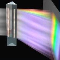 Треугольные Цветовая Призма оптический правый угол k9 материал студентов Экспериментального оборудования