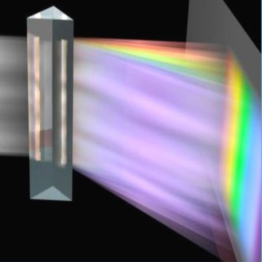 Triangular color prism optical right angle k9 material students experimental equipment