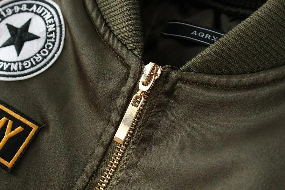 Winter cotton label pilot jacket coat Casual short top basic parka Women autumn cool padded biker bomber jacket veste J06