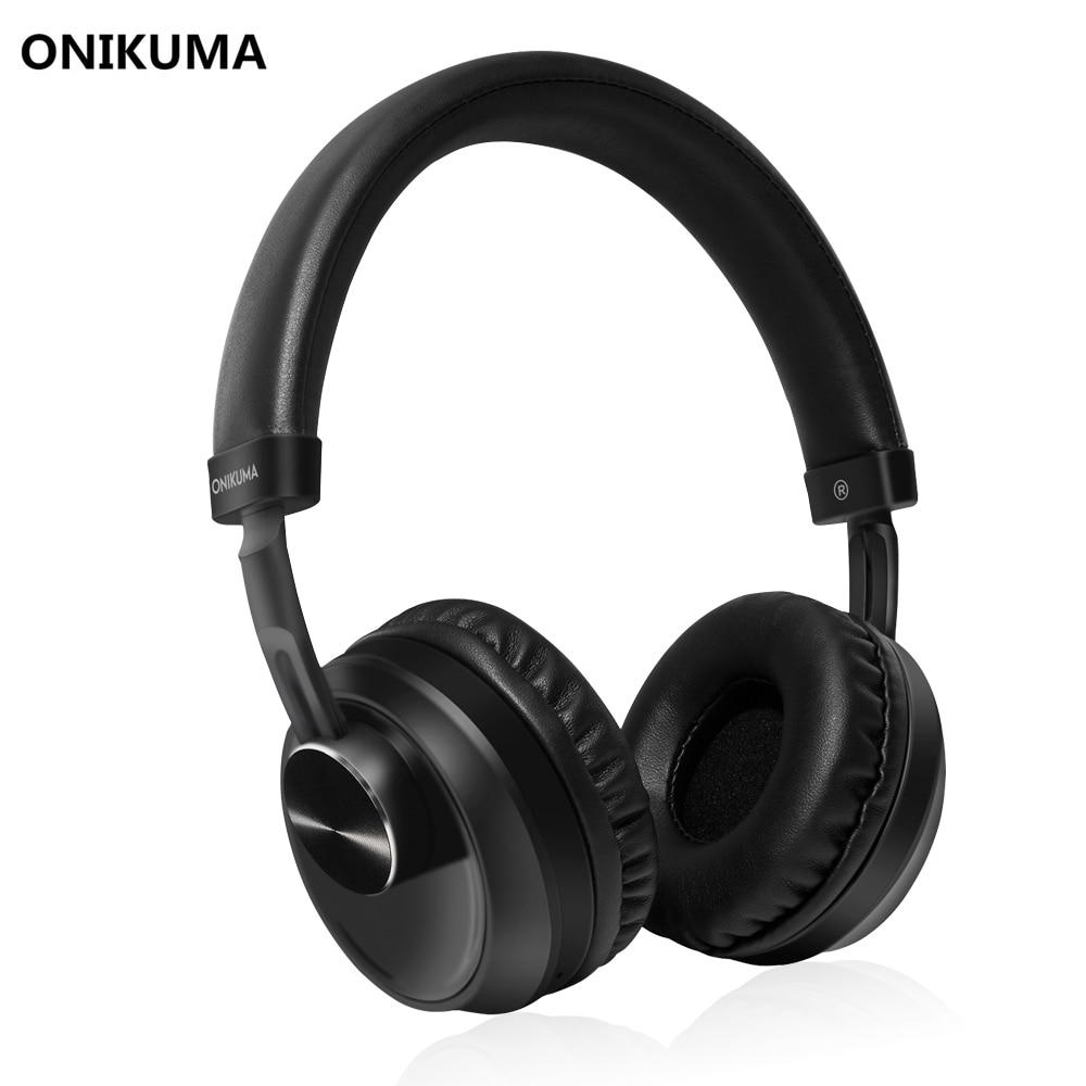 ONIKUMA B10 HD Cuffie con Microfono Incorporato Bluetooth Senza Fili Auricolare Stereo Musica Handband e 3.5 MM Auricolari Wired