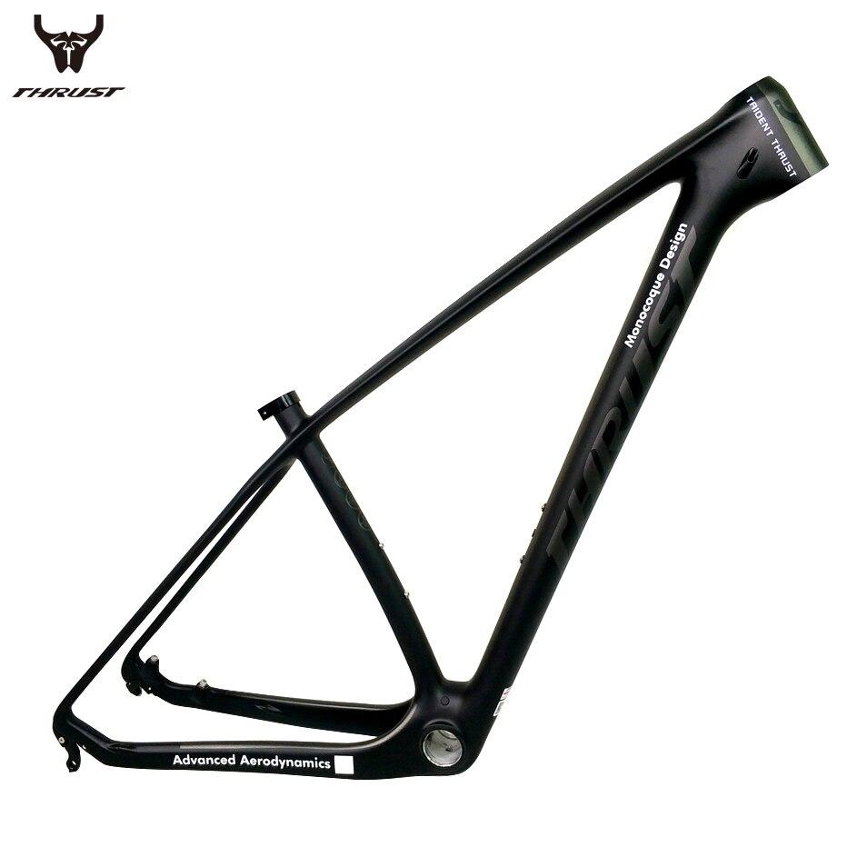 POUSSÉE Carbone vtt Cadre 29er 15 17 19 Vtt Carbone Cadre vtt 29er 27.5er Noir Mat Brillant BSA BB30 pour Vélo