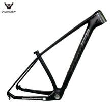 Напора углерода mtb рама 29er 15 17 19 горный велосипед карбоновая рама mtb 29er 27.5er черный матовый глянцевый BSA BB30 для велосипеда