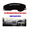 Tampas do painel do carro mat para mitsubishi asx todos os anos direito hand drive personalizado dashmat traço pad auto acessórios do carro