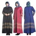 Плюс размер Мусульманской Абая одежда Турции Женщины с длинным рукавом печатных платье картина Повелительницы исламские abayas платья 7XL одежда