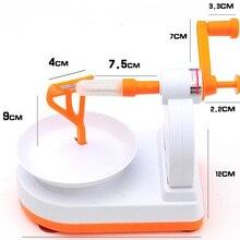 1pcs Fruit Peeler White+Orange Practical Creative Home Kitchen Tool Helper Manual Fruit Peelers Fruit Tool 18 x 12 x 14cm