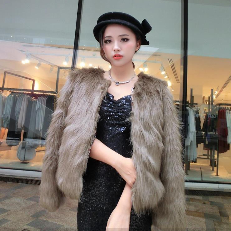 Wholesale! 4XL 5XL Hot Sell New Arrival Trendy Candy Faux Fur Coat Women's Fashion Slim Casual Party Jacket Coats PC105