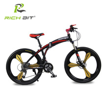 Richbit High Quality Aluminum Folding Bicycle 27 speeds Mountain Bike Dual Disc Brakes Variable Speeds Road Bike Racing Bicycle