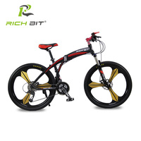 Richbit High Quality Aluminum Folding Bicycle 27 Speeds Mountain Bike Dual Disc Brakes Variable Speeds Road