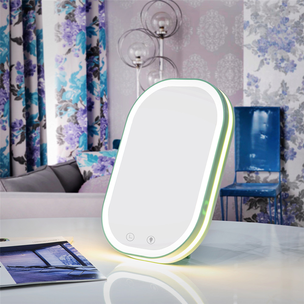 LED Touch Screen Makeup Mirror Professional Vanity Mirror LED Lights Health Beauty Adjustable Countertop Flat Makeup Mirror new led touch screen makeup mirror