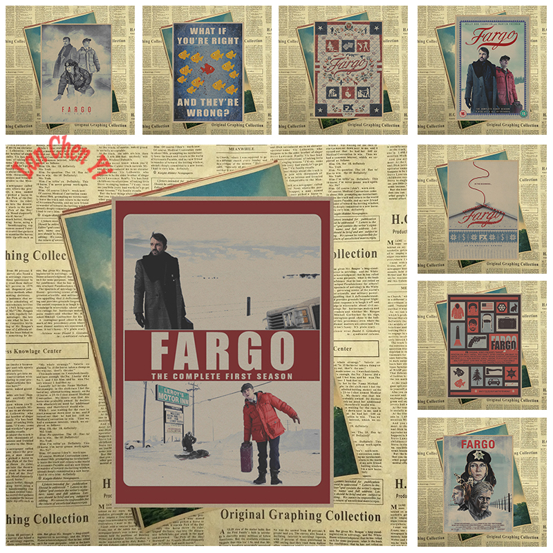 Classic Vintage Movie Fargo Matte Kraft Paper Poster Office Gift Room Dining Home Decor wall sticker Design