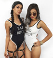 2016 Summer Beach Beyonce Jumpsuit Bad bitch One Piece Swimsuit Young Girls  Bodysuit Women Dance Jumpsuit