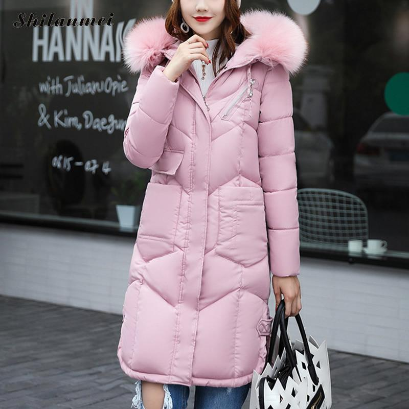 Fake fur hooded collar Parka cotton jacket 2017 Winter Jacket Women thick Snow Wear Coat Lady Clothing Female Jackets Parkas 3XL 2017 women winter hooded winter coat with fur collar pockets female short jackets cotton padded parkas wadded snow wear yl002