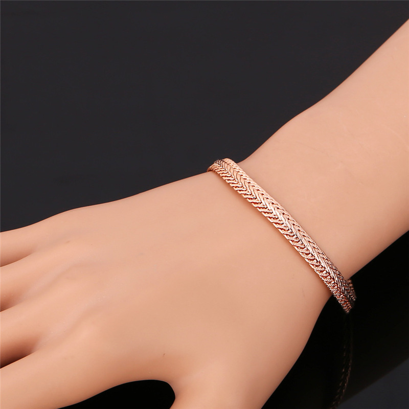 Kpop Bracelet Men Jewelry Trendy Gift New Fashion Gold Rose Silver Color Bracelets For H116 In Chain Link From
