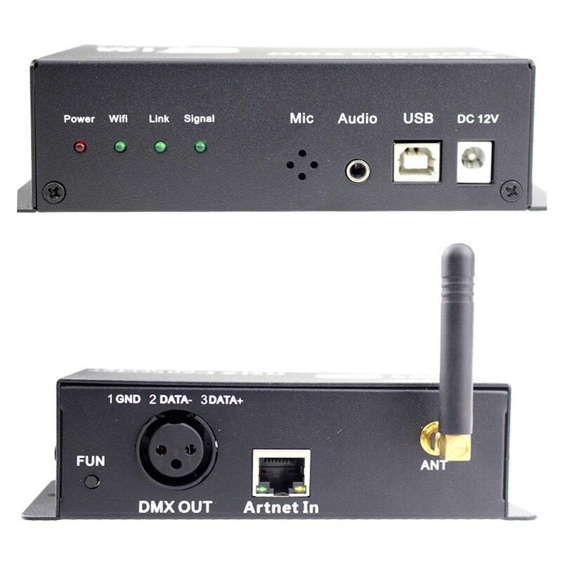 Wifi conversor dmx led controlador 12v android ou ios sistema de controle sinal wi fi converter sinal dmx para lâmpadas led saída dmx512 - 6