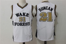 6de2df5708e La Max Wake Forest College 21  Tim Duncan Basketball Jerseys High Quality  Throwback Jersey Free