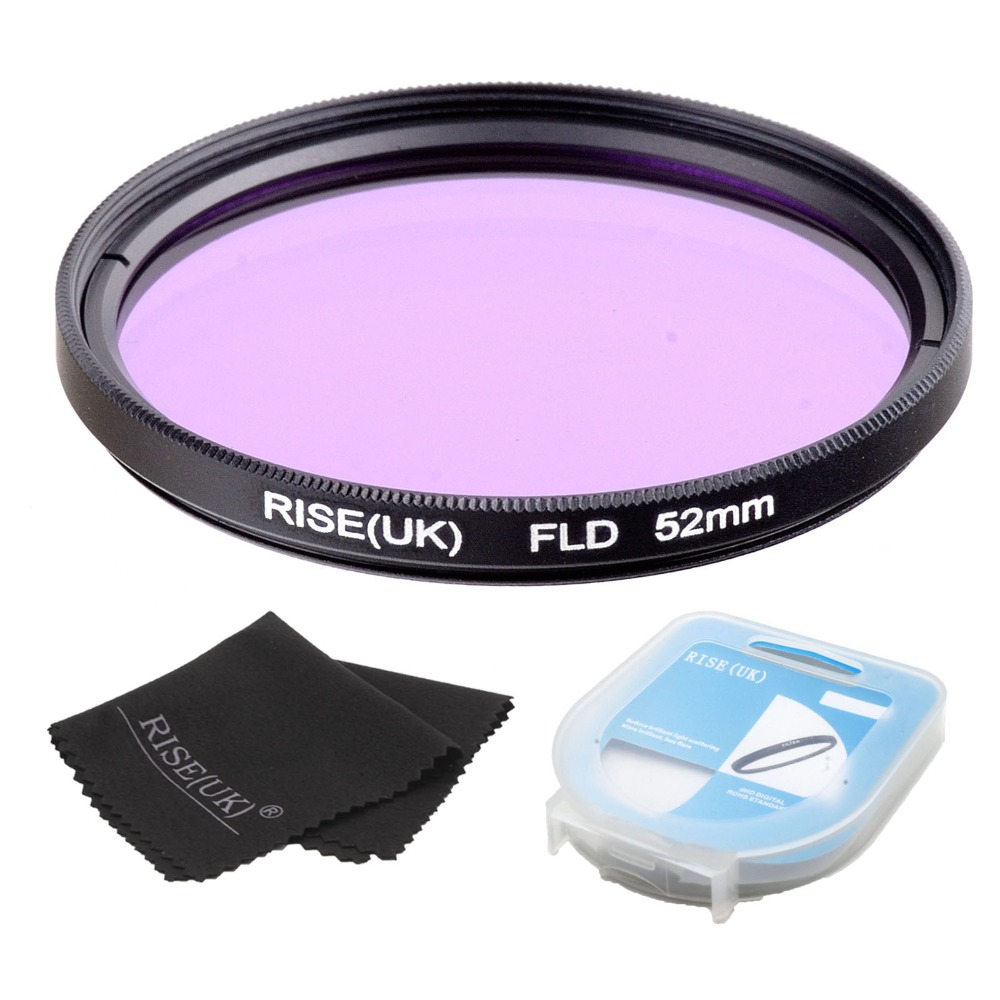 RISE 52mm FLD Lens Filter + case + cloth For Nikon Canon sony DLSR camera free shipping