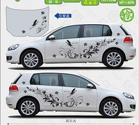 Universal Flowers Car Sticker For Kia K2K3K4K5 Mazda3 Z2CA792
