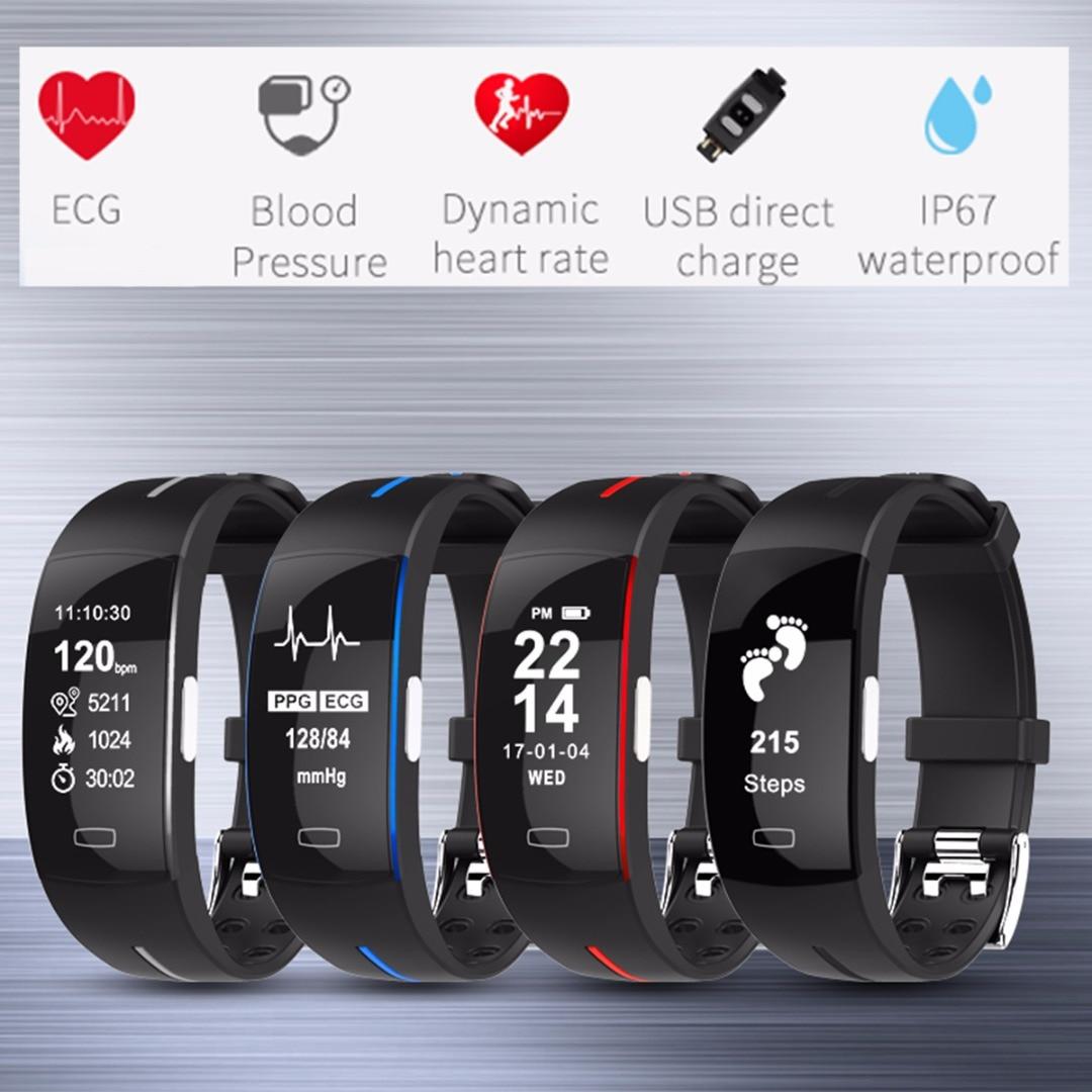 1 pièces Bracelet Sport Support de Poignet Pression Artérielle Moniteur De Fréquence Cardiaque Fitness Bracelets Activité Tracker Bande de Bracelet Intelligente