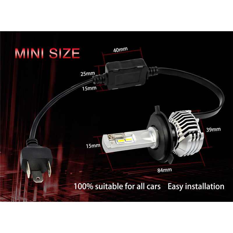 Essgoo светодиодный H4 H7 H11 автомобиля свет 80 W 14400LM фар D1 D2 D3 D4 5202 9012 P13W PSX24W PSX26W авто лампы 12 V 6000 K налобный фонарь