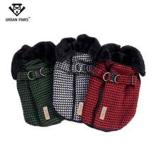 Hohe Qualität Marke Doppelschicht Fleece Hund Mantel Winter Warm Plaid Hund Kleidung Europäischen und Amerikanischen Stil Einzuplanen Pet Kleidung S-2XL