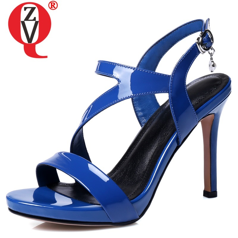 ZVQ shoes woman summer new fashion sexy high quality genuine leather woman sandals outside super high