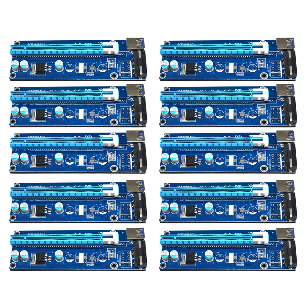 все цены на  10pcs 60cm USB 3.0 PCI-E PCI Express 1x to 16x Extender Riser Card with SATA 15pin to 4pin Power Cable for Bitcoin Miner  онлайн