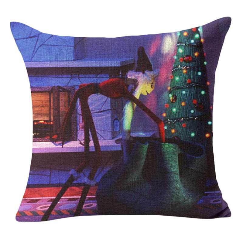 Кошмар перед Рождеством наволочка хлопок белье пледы наволочки декоративные Ужасы фильм дома de coussin