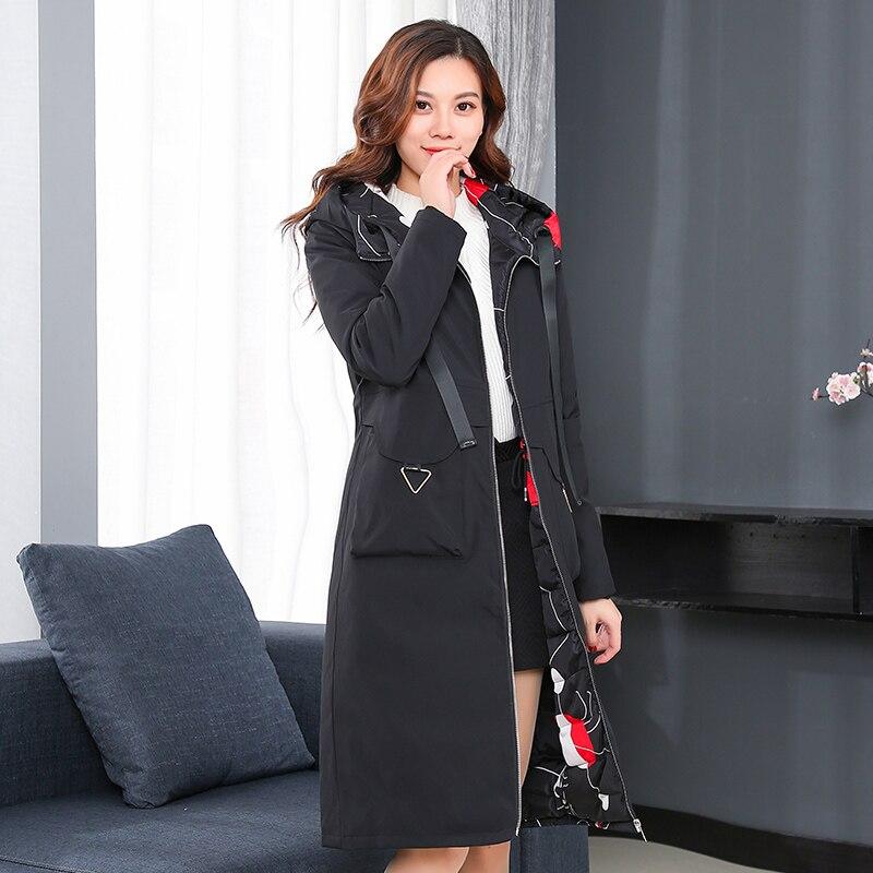 2018new Côtés Deux Vers Le Portant Dames Long Rembourré Vêtements Bas Femmes Red Coton Veste Hiver Moyen Camouflage Black black 5qwFx7S