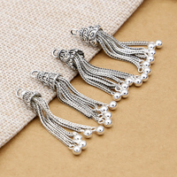 New Arrival 925 Sterling Tassel DYI Muslim Arab Prayer Beads Pendant Delicate Charm Accessory Tassel Free