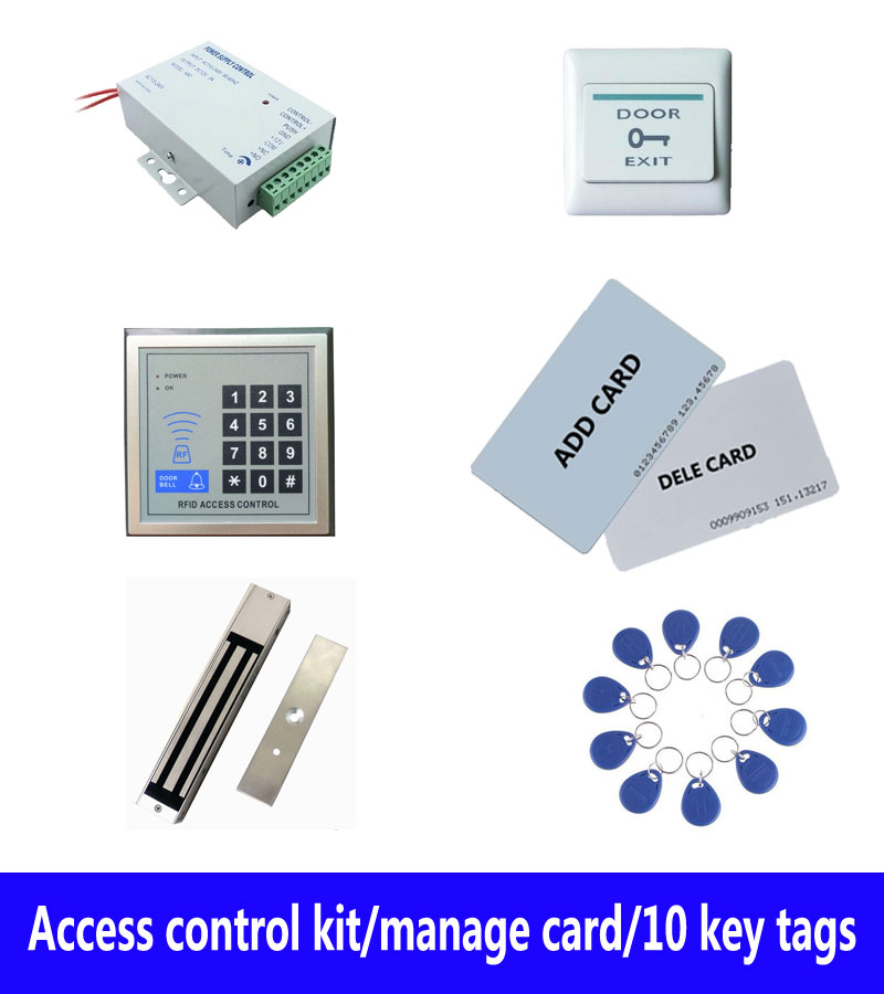 access control kit,standalone access controller+ power+280kg magnetic lock+exit button+2 manage card,10 keyfob ID tags,sn:set-6 м ф смешарики начало
