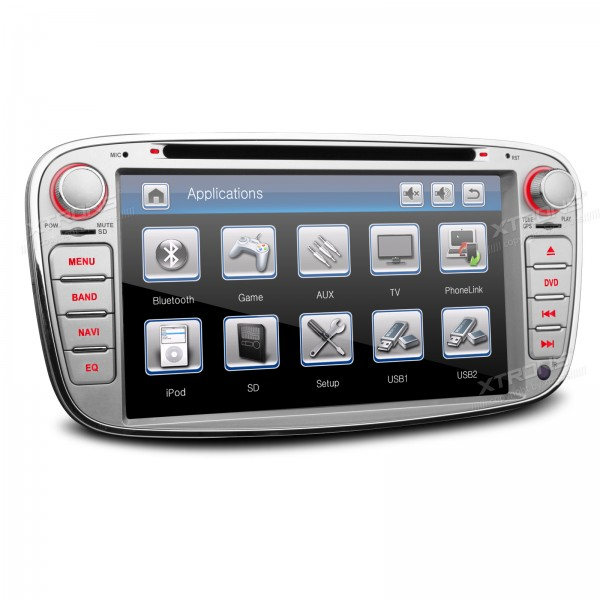 7 Silver 2 din Special Car DVD for Ford Focus 2007-2010 & Ford S-Max 2008-2011 & Ford Mondeo 2004-2011 & Ford C-Max 2008-2010