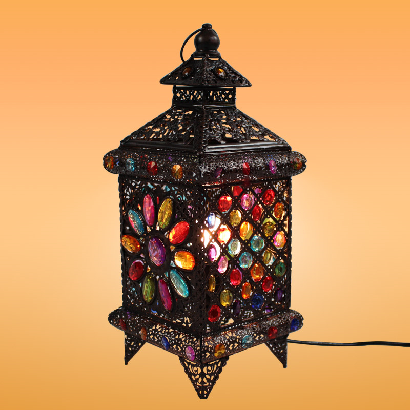 Bar Lamp Decoration: Bohemian Style Fashion Rustic Style Table Lamp Lantern